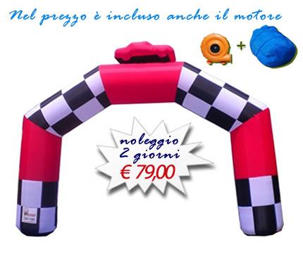 Arco gonfiabile a Scacchi per manifestazioni sportive o eventi pubblicitari