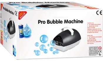 Macchina spara bolle di sapone portatile a corrente elettrica e batterie - scatola