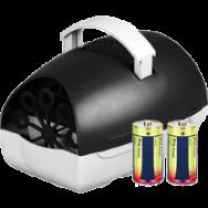 Caratteristiche della Macchina spara bolle di sapone portatile a corrente elettrica e batterie