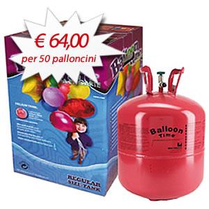Bombola Elio - Bombola gas elio usa e getta per 50 palloncini