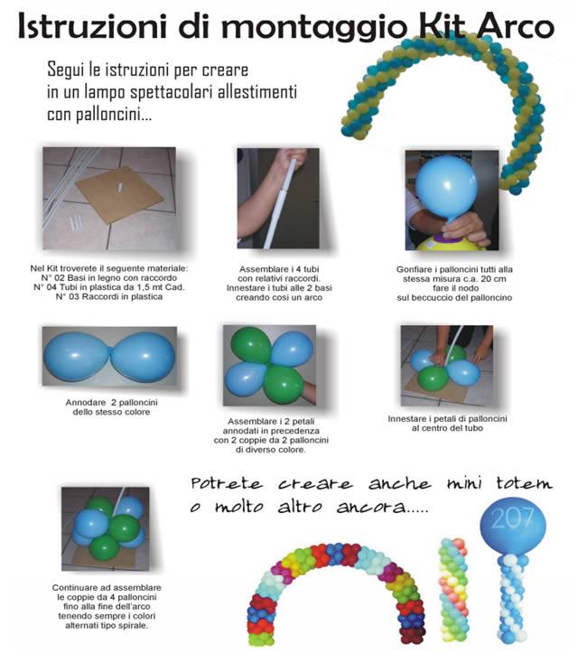 Istruzioni montaggio kti arco di palloncini