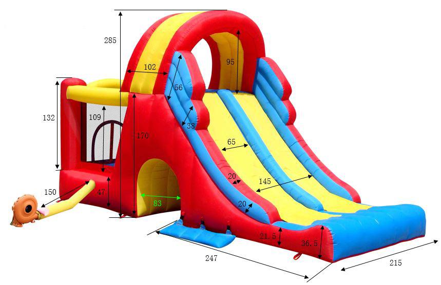 Acquisto mega scivolo gonfiabile combo vendita on line for Scivolo per bambini usato