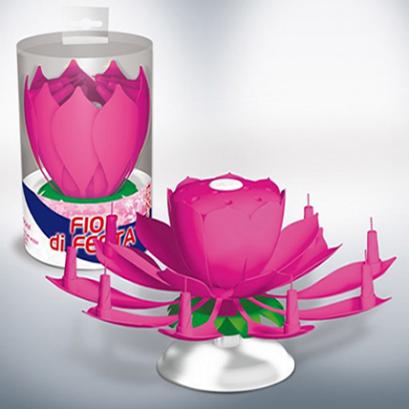 Candelina-girevole-De-Luxe-Rosa