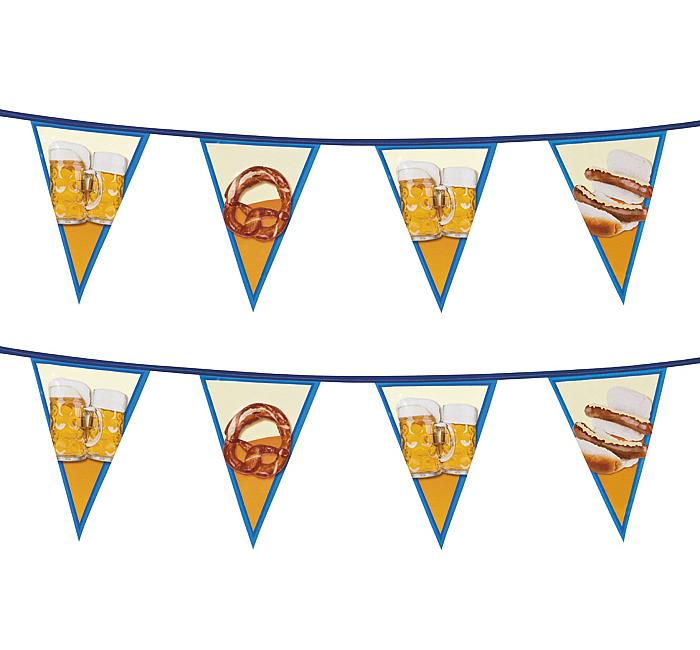 Popolare Festone Addobbi Festa della Birra in PVC con disegni vari 6 mt XJ09