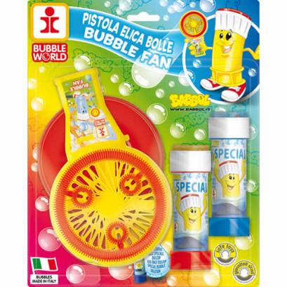 Elica bolle con soffiatore per bolle giganti - Mod BABBOL BUBBLE FAN - BIG new copertina