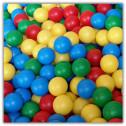 Palline plastiche colorate diametro 7,5cm - Prodotto professionale certificazione TUV-CE