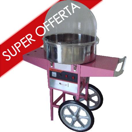 Carrello macchina per lo zucchero filato
