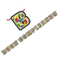 Kit Scritta Maxi 600 x 25 cm Buon Compleanno Happy Balloons