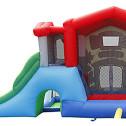 BIG HOUSE - Castello gonfiabile con scivolo gonfiabile di medie dimensioni n.2