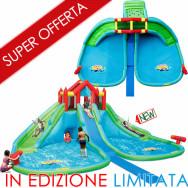 VENDITA GIGANTE ACQUATICO - Triplo scivolo doppi cannoni e due vasche per l'acqua - Ideale per le tue feste estive