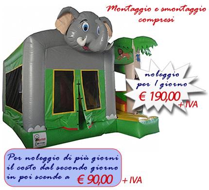 Giostra gonfiabile Elefante Combo (MEDIE DIMENSIONI)