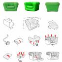 Vendita poltrone e sofa gonfiabili per interni ed esterni – salotti – giardini – terrazze – campeggio – eventi e promozioni – 1 POSTO
