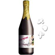Bottiglia Champagne Oggi Sposi con Cuori e Colombe misura 30 cm