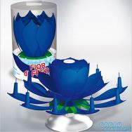 Candelina-girevole-De-Luxe-Azzurra