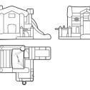 BIG HOUSE - Castello gonfiabile con scivolo gonfiabile di medie dimensioni n.13