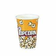 Ciotole-Bicchieroni coppe per Pop Corn in cartone - misure diametro base 7,5 cm diametro bocca 10,50 cm per h.17 cm - conf. da 25 pezzi