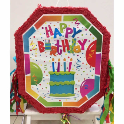 Pentolaccia - Pignatta Happy Birthday - dimensioni cm 44 x 52h